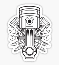Piston lable Sticker