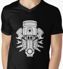 Piston lable Men's V-Neck T-Shirt