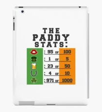 Paddy stats iPad Case/Skin