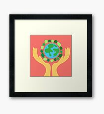 protect the planet Framed Print