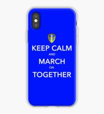 Keep Calm And March On Together iPhone Case