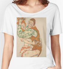 Egon Schiele - Lovemaking 1915 Woman Portrait Women's Relaxed Fit T-Shirt