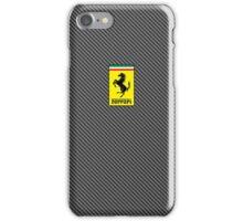 Ferrari Carbon Fiber Logo  iPhone Case/Skin