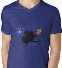 Broomstick Mouse Men's V-Neck T-Shirt