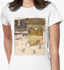 Egon Schiele - Old Houses in Krumau, 1914 Landscape T-Shirt