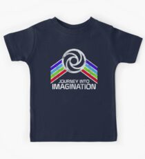 Journey Into Imagination Distressed Logo in Vintage Retro Style Kids Tee