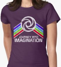 Journey Into Imagination Distressed Logo in Vintage Retro Style Women's Fitted T-Shirt