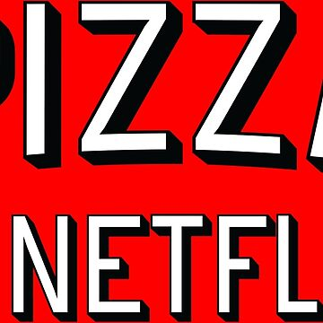 Pizza & Netflix T-Shirt | TV Marathon Takeaway Burger Breaking Bad House of Cards Arrested Development Game of Thrones Orange the new black by atomickid