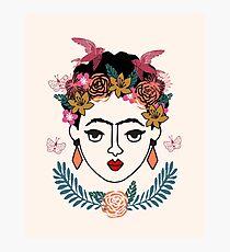 Frida Kahlo kids illustration line drawing andrea lauren  Photographic Print