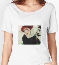 Egon Schiele - Portrait of Wally Neuzil 1912 Woman Portrait Women's Relaxed Fit T-Shirt