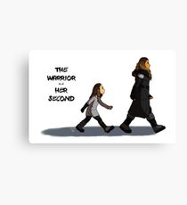 Walk the Walk - The Warrior and Her Second Canvas Print