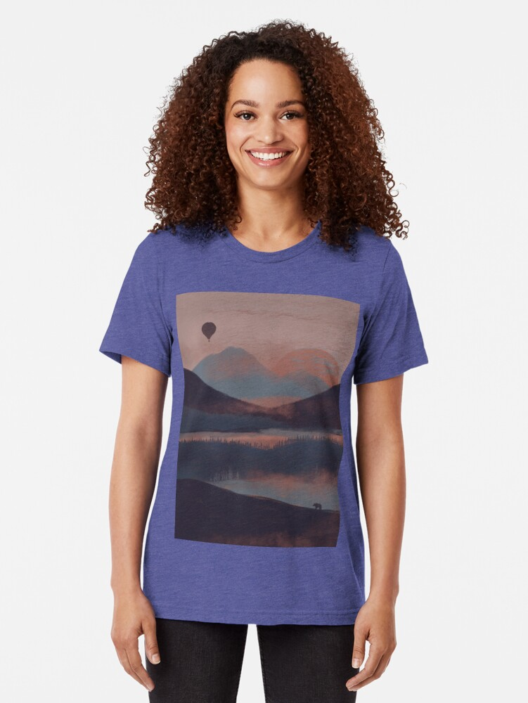 Alternate view of Adrift in the Mountains... Tri-blend T-Shirt