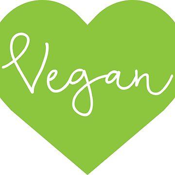 Vegan Heart - Cursive by GlutenFreeGear