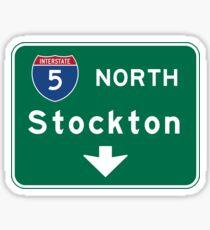 Stockton, Road Sign, California Sticker