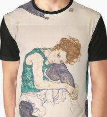 Egon Schiele - Seated Woman with Legs Drawn Up Adele Herms 1917 Graphic T-Shirt