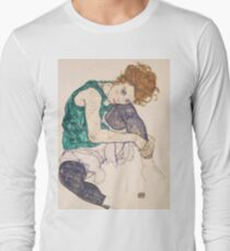 Egon Schiele - Seated Woman with Legs Drawn Up Adele Herms 1917 T-Shirt