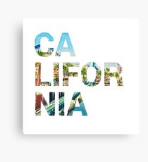 California t-shirt Canvas Print
