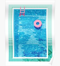 Chillin' - swimming pool vacation palm springs resort country club swim team athlete swimmer Poster