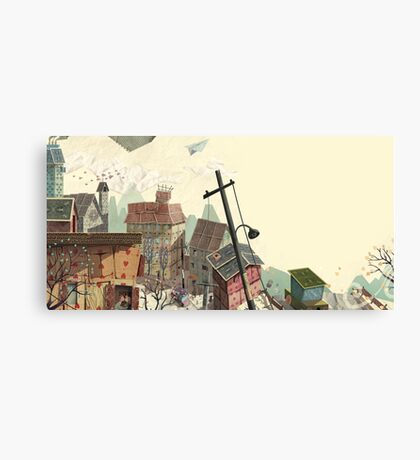 Paper city Canvas Print