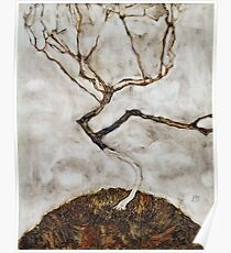 Egon Schiele - Small Tree in Late Autumn 1911  Expressionism Landscape Poster