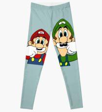 Hipster Mario Bros  Leggings