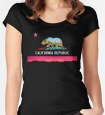 California republic t-shirt Women's Fitted Scoop T-Shirt