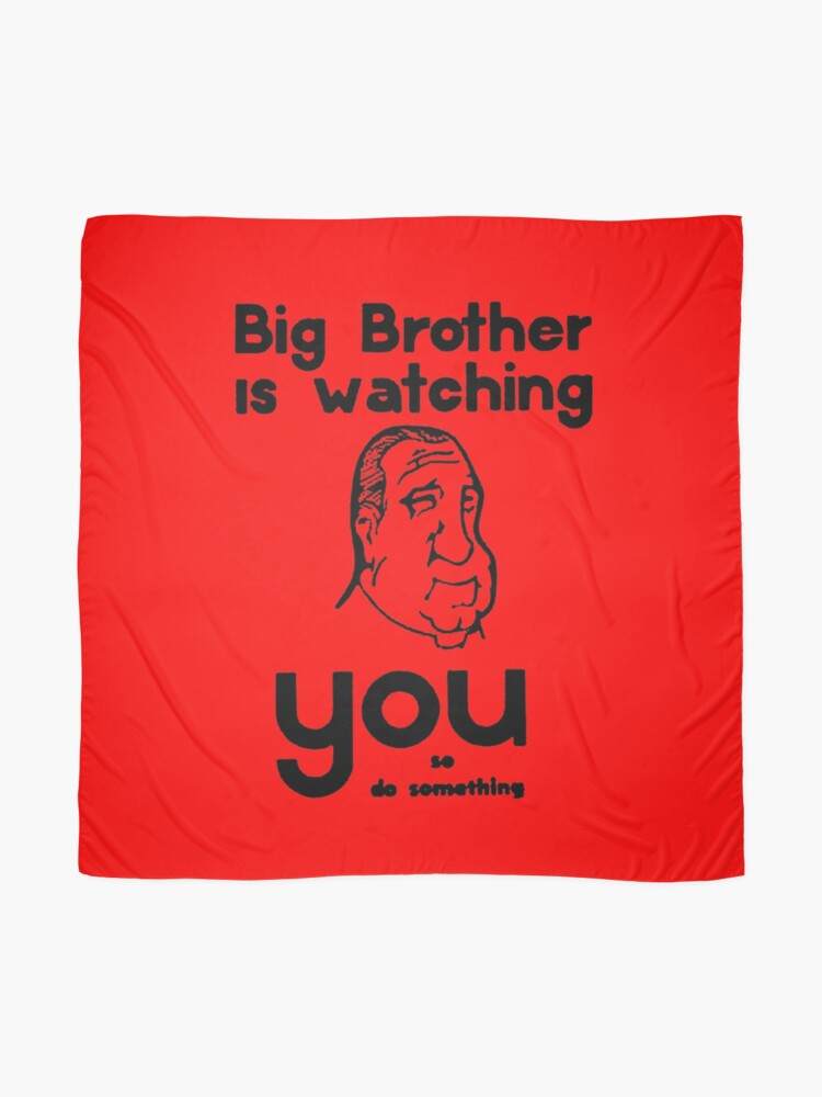 """BIG BROTHER IS WATCHING YOU...."" Scarf by truthtopower ..."