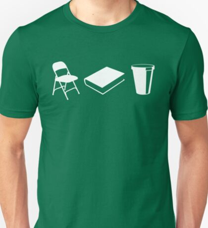 Folding chairs, books and coffee T-Shirt