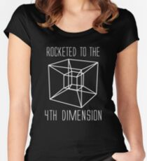 Rocketed to the fourth dimension Women's Fitted Scoop T-Shirt