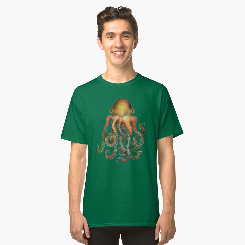 Octopus or Squid? It's a Cephalopod! Classic T-Shirt Front