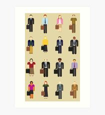 The Office: Characters Art Print