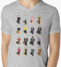 The Office: Characters Men's V-Neck T-Shirt
