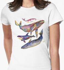 Four Whales Pyramid Women's Fitted T-Shirt