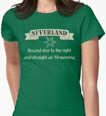 Neverland Second Star To The Right And Straight On Til Morning T Shirt Women's Fitted T-Shirt