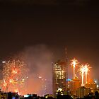 New Year Fireworks (Brisbane City) 31/12/2015 by Wayne  Nixon  (W E NIXON PHOTOGRAPHY)
