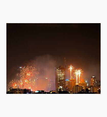 New Year Fireworks (Brisbane City) 31/12/2015 Photographic Print