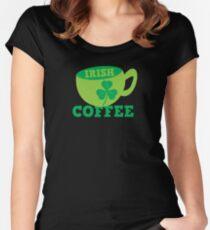 Irish Coffee with cute mug and shamrock Women's Fitted Scoop T-Shirt