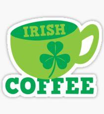 Irish Coffee with cute mug and shamrock Sticker