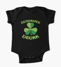 DESIGNATED drunk with Irish shamrock Kids Clothes