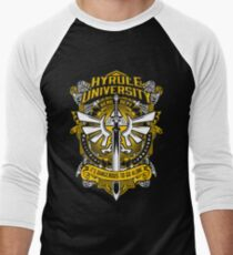 Zelda T-Shirt (Hyrule University) Men's Baseball ¾ T-Shirt
