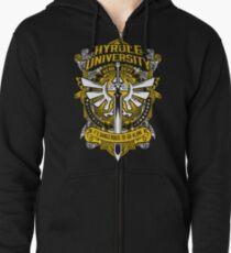 Zelda T-Shirt (Hyrule University) Zipped Hoodie
