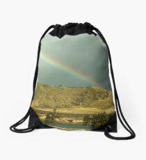 Rainbow on the Rez Drawstring Bag