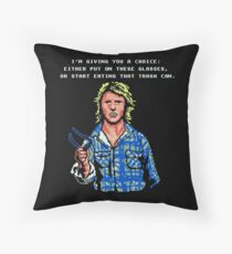 Put On The Glasses Throw Pillow
