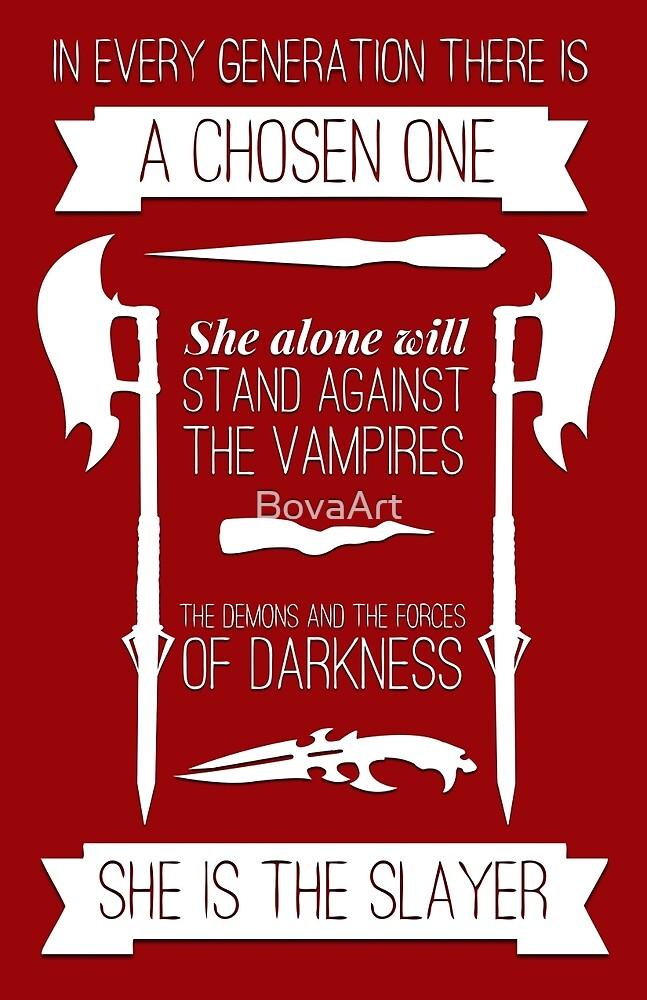 Buffy the Vampire Slayer - Chosen One by BovaArt
