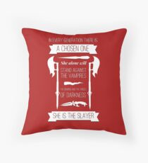 Buffy the Vampire Slayer - Chosen One Throw Pillow