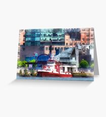 New York Fire Boat Greeting Card