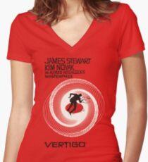 VERTIGO. HITCHCOCK Women's Fitted V-Neck T-Shirt