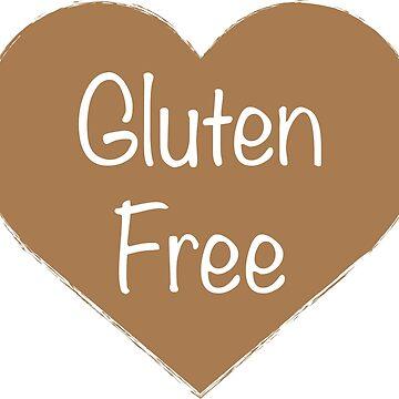 Gluten Free Brown Heart by GlutenFreeGear