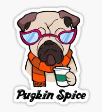 Pugkin Spice Sticker