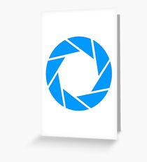 Aperture Science Logo Greeting Card